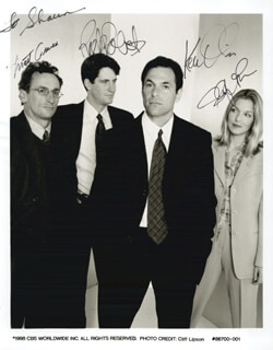L. A. DOCTORS TV CAST - AUTOGRAPHED INSCRIBED PHOTOGRAPH CIRCA 08/1998CO-SIGNED BY: MATT CRAVEN, KEN OLIN, RICK ROBERTS, SHERYL LEE
