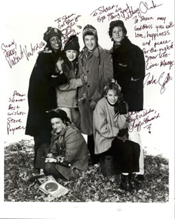 Autographs: BOSTON COMMON TV CAST - INSCRIBED PHOTOGRAPH SIGNED CO-SIGNED BY: HEDY (HEATHER) BURRESS, ANTHONY CLARK, TRAYLOR ELIZABETH HOWARD, STEVE (STEPHEN) PAYMER, TASHA SMITH, VINCENT PAUL GERARD VENTRESCA