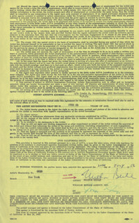 MILTON BERLE - CONTRACT SIGNED 07/20/1956