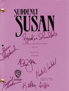 SUDDENLY SUSAN TV CAST - SCRIPT SIGNED CIRCA 1999 CO-SIGNED BY: ERIC IDLE, BROOKE SHIELDS, SHERRI EVONNE SHEPHERD, KATHY GRIFFIN, NESTOR CARBONELL, CURRIE GRAHAM