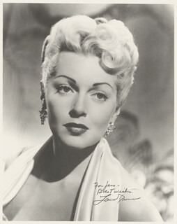 LANA TURNER - AUTOGRAPHED INSCRIBED PHOTOGRAPH