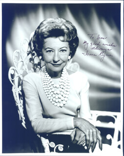 IRENE RYAN - AUTOGRAPHED INSCRIBED PHOTOGRAPH