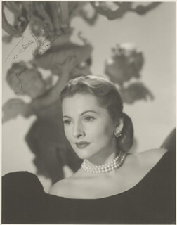 JOAN FONTAINE - AUTOGRAPHED INSCRIBED PHOTOGRAPH