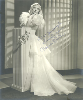 MARION DAVIES - AUTOGRAPHED INSCRIBED PHOTOGRAPH