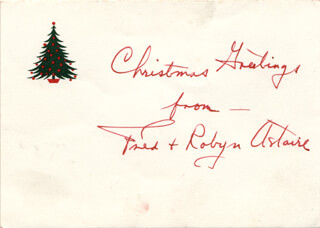 Autographs: FRED ASTAIRE - CHRISTMAS / HOLIDAY CARD SIGNED
