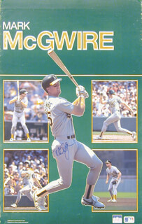 MARK McGWIRE - AUTOGRAPHED SIGNED POSTER CIRCA 1998