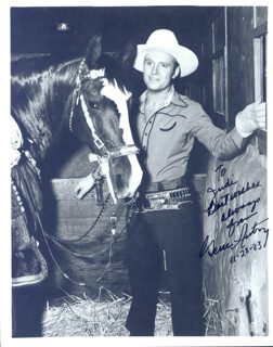 GENE AUTRY - AUTOGRAPHED SIGNED PHOTOGRAPH 11/28/1983