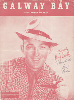 Autographs: BING CROSBY - INSCRIBED SHEET MUSIC SIGNED