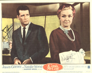 Autographs: CASH MCCALL MOVIE CAST - LOBBY CARD SIGNED CO-SIGNED BY: JAMES GARNER, NINA FOCH