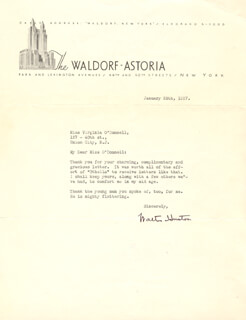 WALTER HUSTON - TYPED LETTER SIGNED 01/28/1937