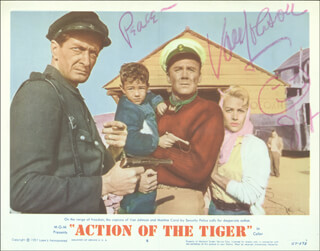 VAN JOHNSON - LOBBY CARD SIGNED 1987