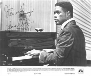 HOWARD ROLLINS - INSCRIBED PRINTED PHOTOGRAPH SIGNED IN INK 04/1984