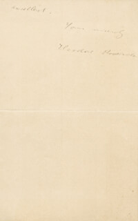 Autographs: PRESIDENT THEODORE ROOSEVELT - AUTOGRAPH LETTER SIGNED 11/30/1890