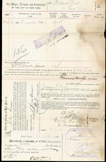 PRESIDENT THEODORE ROOSEVELT - DOCUMENT SIGNED 05/05/1896