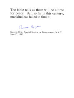Autographs: PRESIDENT RONALD REAGAN - TYPED QUOTATION SIGNED