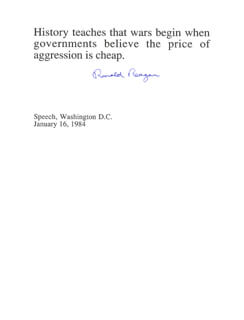 PRESIDENT RONALD REAGAN - TYPED QUOTATION SIGNED