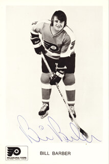 BILL BARBER - AUTOGRAPHED SIGNED PHOTOGRAPH