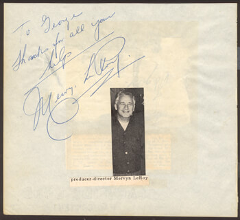 MERVYN LEROY - AUTOGRAPH NOTE SIGNED
