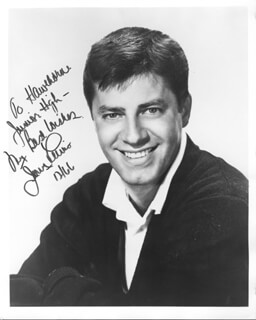 JERRY LEWIS - AUTOGRAPHED INSCRIBED PHOTOGRAPH 12/1966