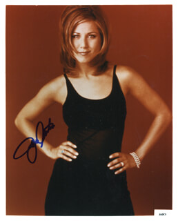 JENNIFER ANISTON - AUTOGRAPHED SIGNED PHOTOGRAPH