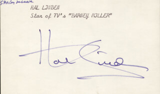 HAL LINDEN - AUTOGRAPH CO-SIGNED BY: SHIRLEY MacLAINE