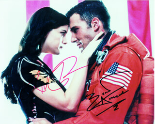 ARMAGEDDON MOVIE CAST - AUTOGRAPHED SIGNED PHOTOGRAPH CO-SIGNED BY: BEN AFFLECK, LIV TYLER