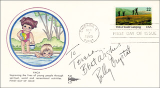 BILLY CRYSTAL - FIRST DAY COVER WITH AUTOGRAPH SENTIMENT SIGNED