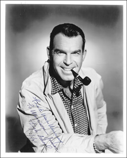 FRED MacMURRAY - AUTOGRAPHED INSCRIBED PHOTOGRAPH 05/05/1961