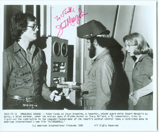 FUTUREWORLD MOVIE CAST - AUTOGRAPHED INSCRIBED PHOTOGRAPH CO-SIGNED BY: STUART MARGOLIN, PETER FONDA