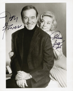 JOHN PAYNE - AUTOGRAPHED SIGNED PHOTOGRAPH CO-SIGNED BY: ALICE FAYE