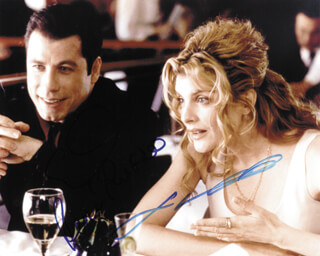 GET SHORTY MOVIE CAST - AUTOGRAPHED SIGNED PHOTOGRAPH CO-SIGNED BY: JOHN TRAVOLTA, RENE RUSSO