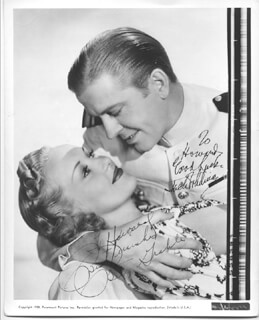 GIVE ME A SAILOR MOVIE CAST - AUTOGRAPHED INSCRIBED PHOTOGRAPH CO-SIGNED BY: BETTY GRABLE, JACK WHITING