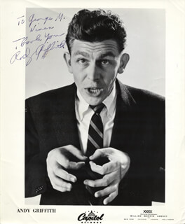 ANDY GRIFFITH - AUTOGRAPHED SIGNED PHOTOGRAPH