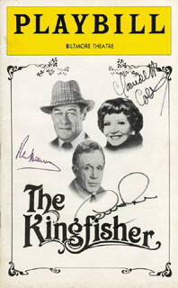THE KINGFISHER BROADWAY CAST - SHOW BILL SIGNED CO-SIGNED BY: GEORGE ROSE, CLAUDETTE COLBERT, REX HARRISON