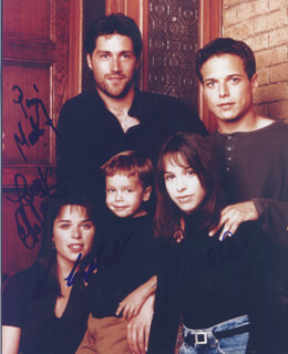 PARTY OF FIVE TV CAST - AUTOGRAPHED SIGNED PHOTOGRAPH CO-SIGNED BY: NEVE CAMPBELL, MATTHEW FOX, LACEY CHABERT, SCOTT WOLF