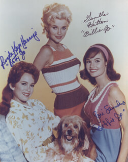PETTICOAT JUNCTION TV CAST - AUTOGRAPHED SIGNED PHOTOGRAPH CO-SIGNED BY: LORI SAUNDERS, LINDA KAYE HENNING, GUNILLA HUTTON