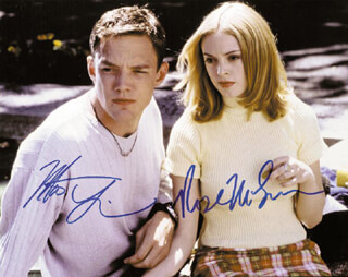 SCREAM MOVIE CAST - AUTOGRAPHED SIGNED PHOTOGRAPH CO-SIGNED BY: MATTHEW LILLARD, ROSE McGOWAN
