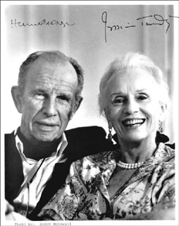 JESSICA TANDY - AUTOGRAPHED SIGNED PHOTOGRAPH CO-SIGNED BY: HUME CRONYN
