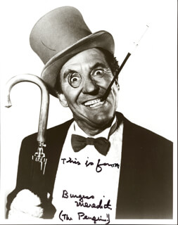 BURGESS MEREDITH - AUTOGRAPHED SIGNED PHOTOGRAPH