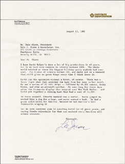 LEE IACOCCA - TYPED LETTER SIGNED 08/17/1989