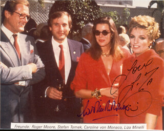 Autographs: PRINCESS CAROLINE (MONACO) - PHOTOGRAPH SIGNED CO-SIGNED BY: LIZA MINNELLI