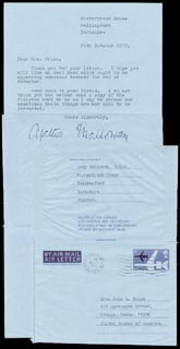 AGATHA CHRISTIE - TYPED LETTER SIGNED 10/25/1972