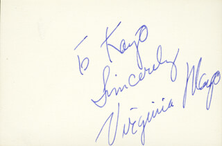 VIRGINIA MAYO - AUTOGRAPH NOTE SIGNED