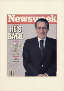 PRESIDENT RICHARD M. NIXON - MAGAZINE SIGNED 05/20/1986