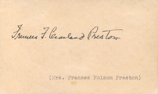FIRST LADY FRANCES F. CLEVELAND - AUTOGRAPH