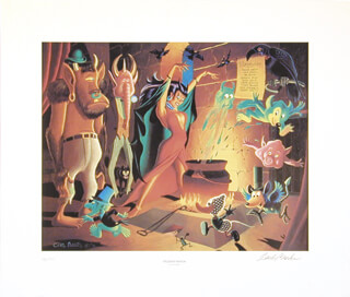 CARL BARKS - LITHOGRAPH SIGNED