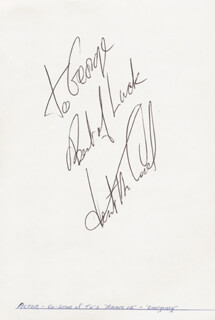 KENT McCORD - AUTOGRAPH NOTE SIGNED