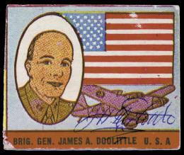 Autographs: BRIGADIER GENERAL JAMES H. JIMMY DOOLITTLE - TRADING/SPORTS CARD SIGNED CIRCA 1942
