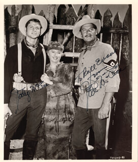 TROOPER HOOK MOVIE CAST - AUTOGRAPHED SIGNED PHOTOGRAPH CO-SIGNED BY: JODY McCREA, JOEL McCREA