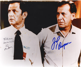 THE ODD COUPLE TV CAST - AUTOGRAPHED INSCRIBED PHOTOGRAPH CO-SIGNED BY: JACK KLUGMAN, TONY RANDALL
